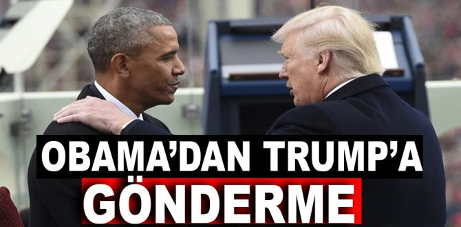 Obama'dan Trump'a gönderme
